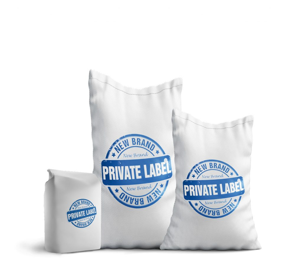 bags of flour written private label